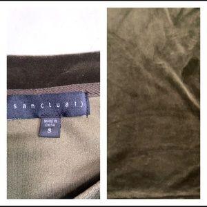 Sanctuary Tops - Sanctuary Tierney Tie Sleeve Velour Top